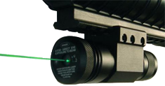 Increase your aiming speed by putting a green laser dot on your target